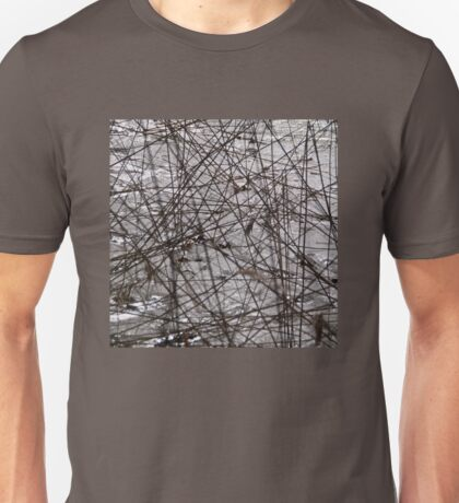 Cattails on the icy pond Unisex T-Shirt