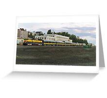 Anchorage, AK Train yard Greeting Card