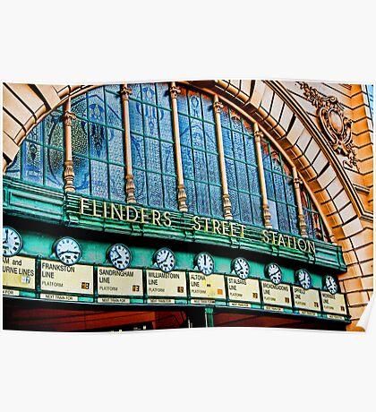 Melbourne Series - The Clocks, Flinders Street Station Poster
