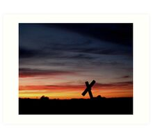 Tombstone Sunset Art Print