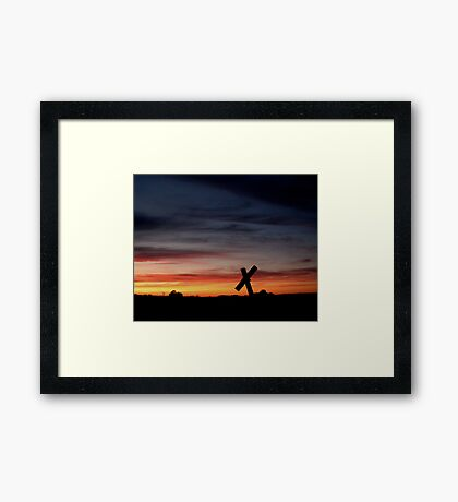 Tombstone Sunset Framed Print