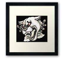 Cougar Tattoo Flash Framed Print