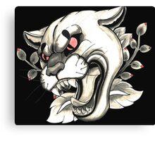 Cougar Tattoo Flash Canvas Print