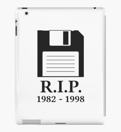 Rest in Peace RIP Floppy Disk iPad Case/Skin