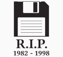 Rest in Peace RIP Floppy Disk by TheShirtYurt