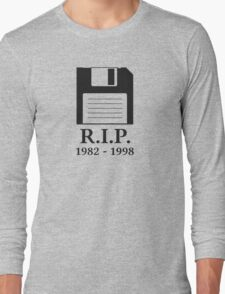 Rest in Peace RIP Floppy Disk Long Sleeve T-Shirt