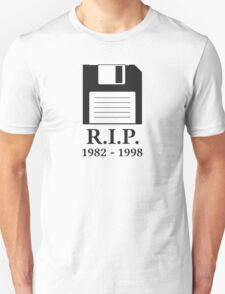 Rest in Peace RIP Floppy Disk Unisex T-Shirt