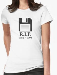Rest in Peace RIP Floppy Disk Womens Fitted T-Shirt