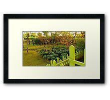 Autumn Greenery Framed Print