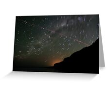 Startrails and Human Journeys #2 Greeting Card