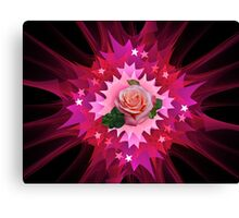 One Pink Rose to Go Canvas Print