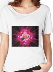 One Pink Rose to Go Women's Relaxed Fit T-Shirt