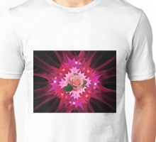 One Pink Rose to Go Unisex T-Shirt