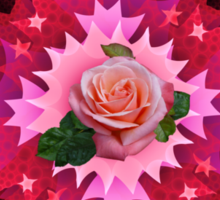 One Pink Rose to Go Sticker
