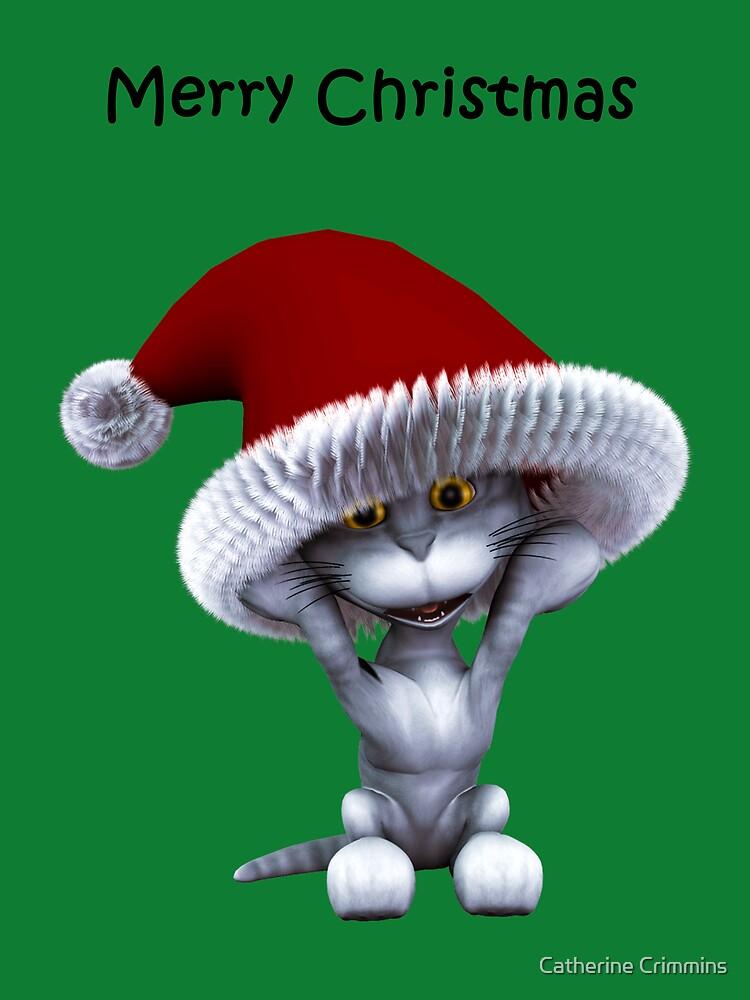 mmmeeeooowww christmas card by Catherine Crimmins