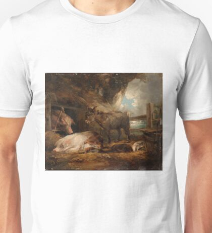 George Morland - Visit To The Pig Sty  Unisex T-Shirt