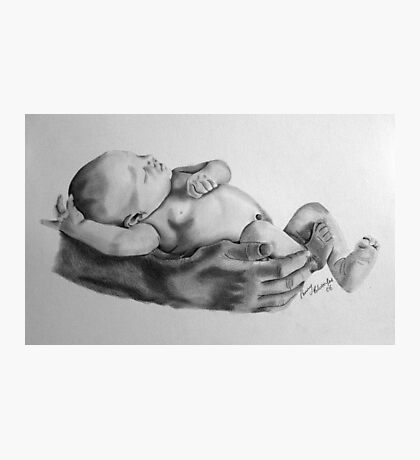 Safe in daddys arms Photographic Print