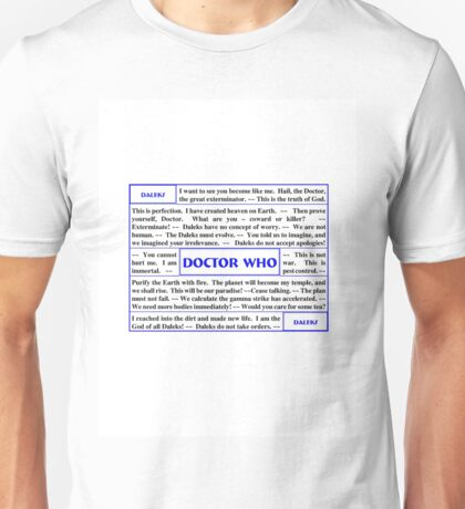 Quotes from Doctor Who - Daleks Unisex T-Shirt