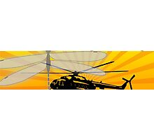 How do dragonflies and helicopters fly Photographic Print