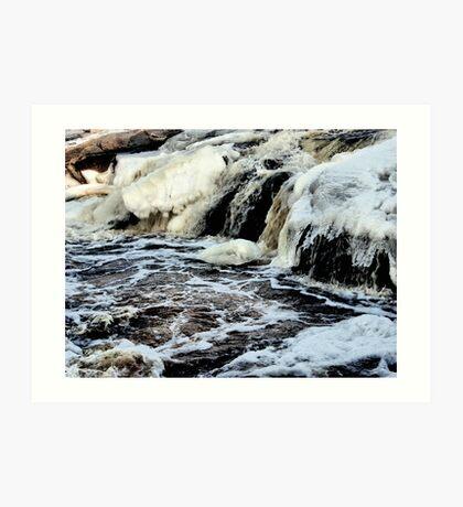 Icey Art Print