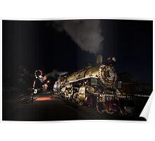Golden Steam Engine Poster