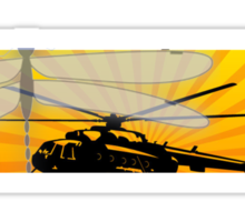 How do dragonflies and helicopters fly Sticker