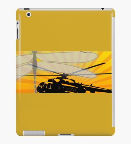How do dragonflies and helicopters fly iPad Case/Skin