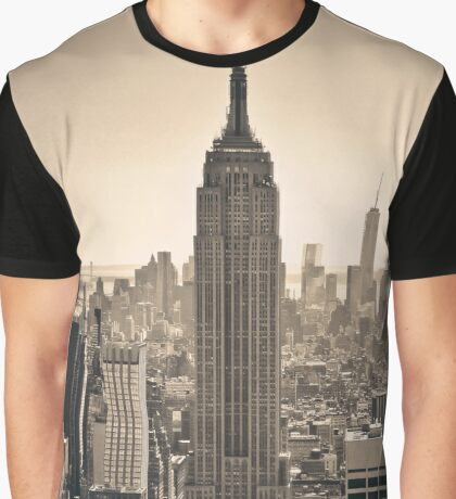 Photography Of Empire State Building, New York, USA. Graphic T-Shirt