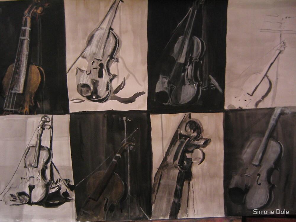 Violin Study by Simone Dole