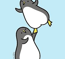 I Can Help You Fly - Dancing Penguins by Zoe Lathey