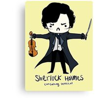 Sherlock is Not a Psychopath Canvas Print