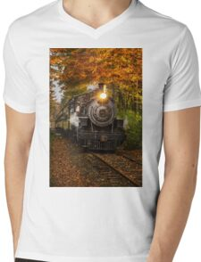 Engine #40 Mens V-Neck T-Shirt