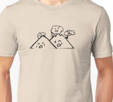 Clouds Vs. Mountains Unisex T-Shirt