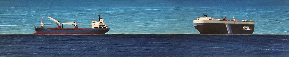 NYK LINE SHIP PANEL by jo vautier