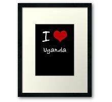 I love Heart Uganda Framed Print