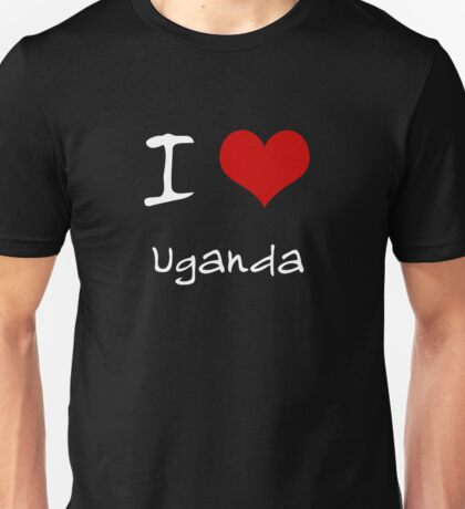 I love Heart Uganda Unisex T-Shirt