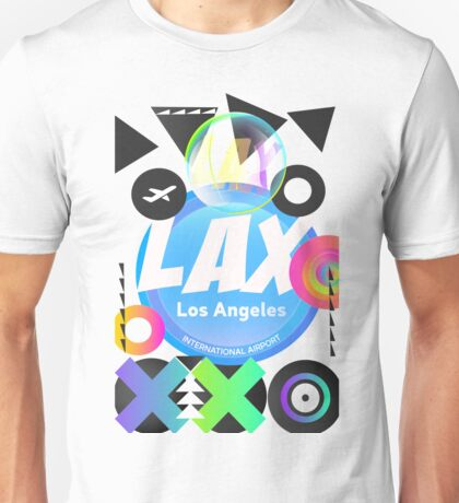 LAX Los Angeles airport code pop Unisex T-Shirt