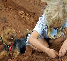 Digging by Edwina Hare