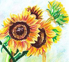 Sunflower Jokers by Amanda Lee