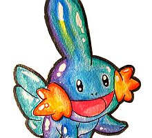 Cute Simplistic Mudkip Watercolor Tshirts + More! ' Pokemon ' by Jonny2may