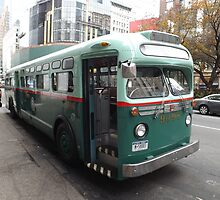 Vintage 1958 Bus, New York Transit System, Herald Square, New York City by lenspiro