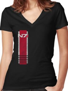 N7 worn Women's Fitted V-Neck T-Shirt