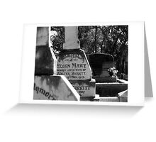 headstone Greeting Card