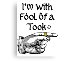 Foolish Tooks, Rings are for Kids Canvas Print