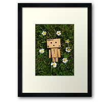 Danbo and daisies, what more could you ask for? Framed Print
