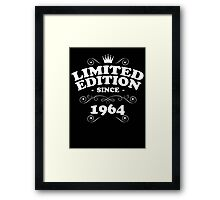 Limited edition since 1964 Framed Print