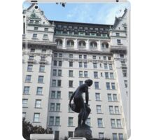Sculpture, Plaza Hotel, Central Park South, New York City  iPad Case/Skin