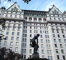 Sculpture, Plaza Hotel, Central Park South, New York City  by lenspiro