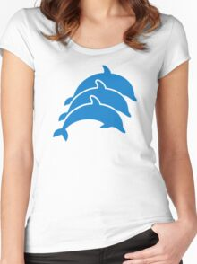 Blue Dolphins Women's Fitted Scoop T-Shirt