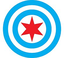 Captain Chicago Shield Photographic Print